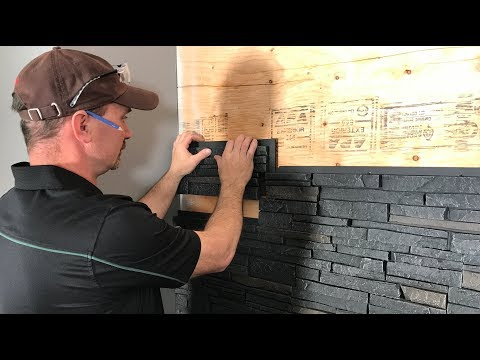 How To Install Faux Stone Wall Panels