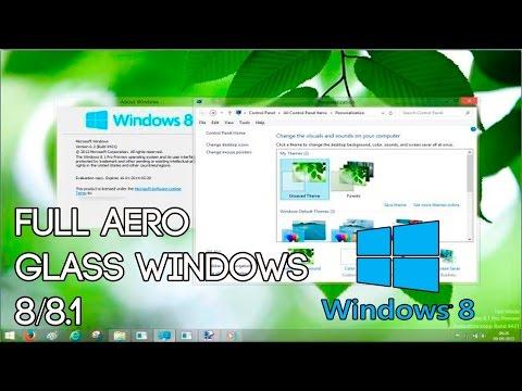 Como instalar Aero Glass en windows 8.1 |2016| Totalmente gratis