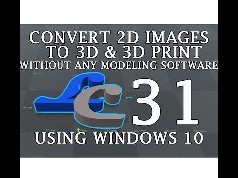 Convert any 2D image to 3D model |No Modeling software is used | WINDOWS 10 | 3D BUILDER