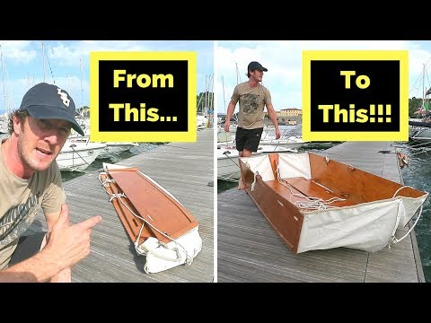 My homemade folding boat (You can buy the plans online and build one too!)