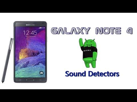 Galaxy Note 4 Hidden Feature - Sound Detectors