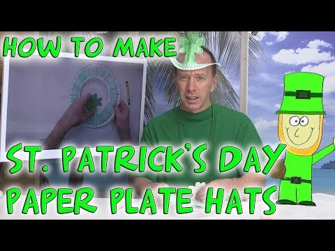 How to make a St. Patrick's Day Paper Plate Hat