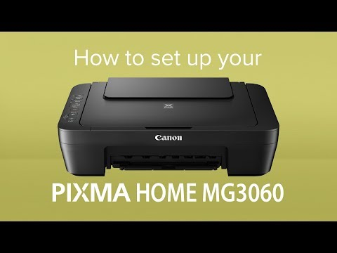 How to set up your Canon PIXMA HOME MG3060