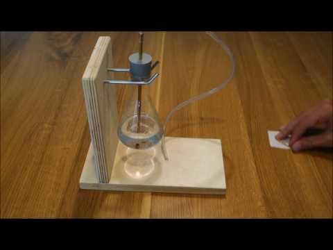 Homemade vacuum coffee machine