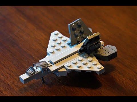 Lego F-22 How-To Build / Micro Lockheed Raptor