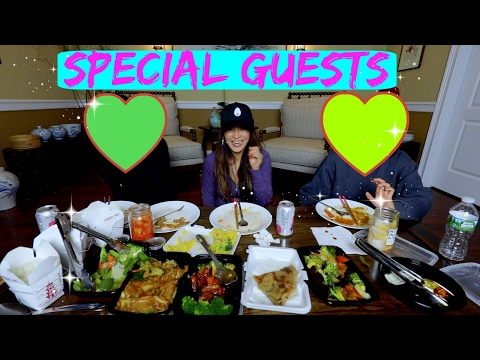 TAKE-OUT CHINESE FOOD MUKBANG *special guests*