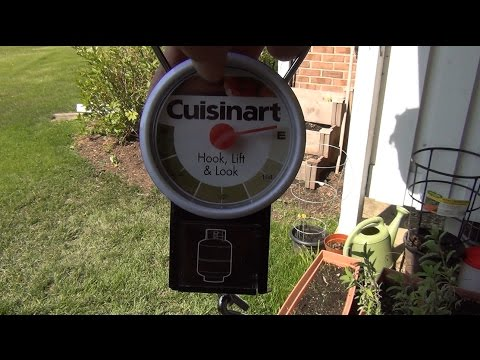 How full is your propane tank?!?  Weigh it!