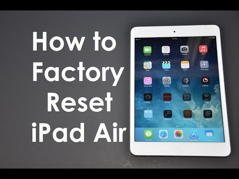How to Factory Reset / Master Wipe iPad / iPhone iOS9 iOS8 iOS7