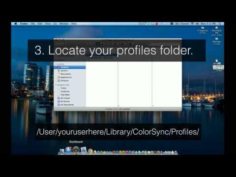 How to install a custom icc profile on Mac OS X.
