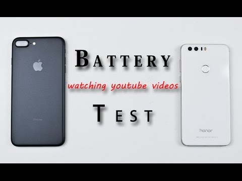 iPhone 7 Plus vs Huawei Honor 8 - Battery Life Test Comparison Review! (watching youtube videos)
