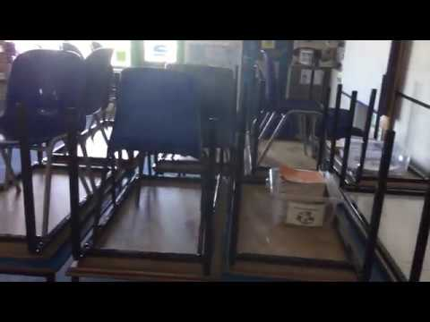 Disinfecting Class room after winter vomiting bug - norovirus