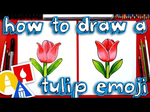 How To Draw The Tulip Emoji 🌷