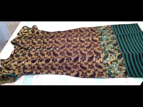 How to tighten a salwar or how to resize ready made dress