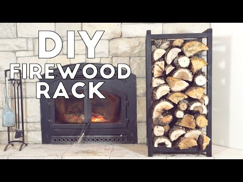 Build A Simple Modern Indoor Fire Wood Rack | Modern Builds | EP. 53