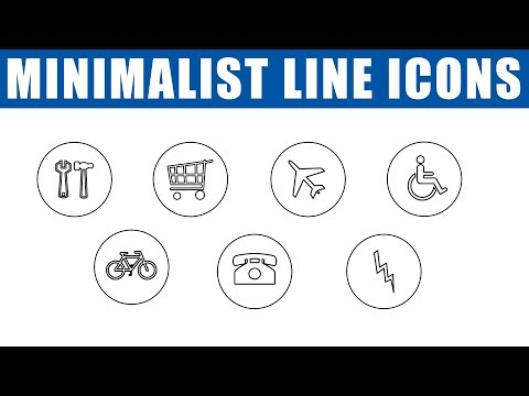 How to make Minimalist Line Icons in Photoshop CC | Icons in Photoshop