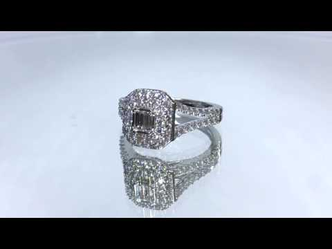 Macy 9ct White Gold Large Cluster Diamond Engagement Ring Gear Jewellers Dublin 0170074