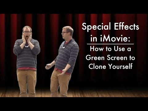 Special Effects in iMovie - How to Use a Green Screen to Clone Yourself
