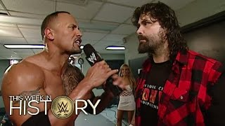 The Rock & Mick Foley team up to take on Evolution: This Week in WWE History, March 3, 2016