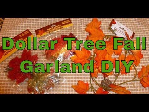 Beautiful and Full Dollar Tree Fall Garland DIY for $2-$5