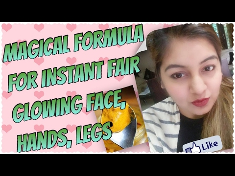 Skin Whitening Formula for Face, Hand, Legs (INSTANT GLOW) | Result in LIVE video | JSuper Kaur