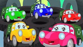 Five Little Garbage Trucks | Nursery Rhymes And Kids Songs | Cartoon Videos from Kids Tv Channel