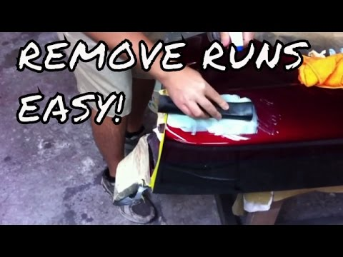 Removing Clearcoat Runs with Glaze (Polyester Glazing Putty)