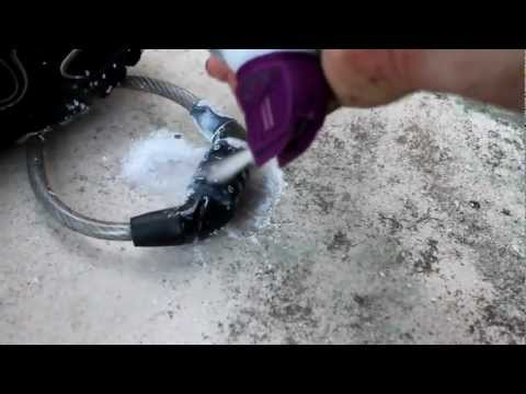 how to break a bike lock  with dust remover