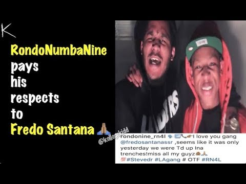 RondoNumbaNine Pays His Respects To Fredo Santana