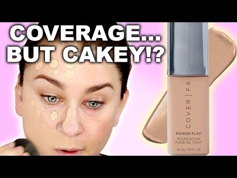 COVER FX POWER PLAY FOUNDATION REVIEW + 11HR WEAR TEST | Beauty Banter