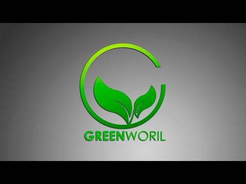 Logo Design    Illustrator cc Tutorial   ( Green World ) By Sahak