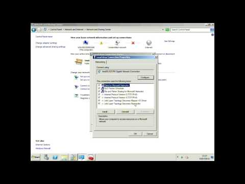 Configuring Microsoft Server 2008 - Part 1 - Setting a Static IP Address on the Server