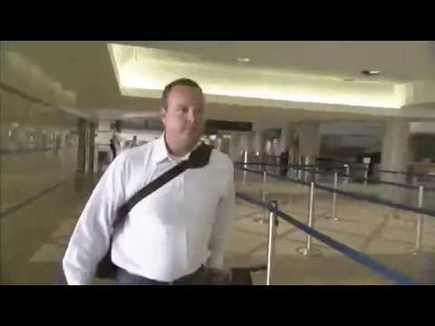 Air traveler's luggage,  LAX journey from check-in to aircraft - Unravel Travel TV