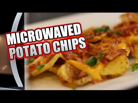 Superbowl Snack #3:  HOW TO MICROWAVE POTATO CHIPS Recipe     HellthyJunkFood