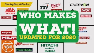 Who Makes What - Cordless Tools (Updated for 2020)