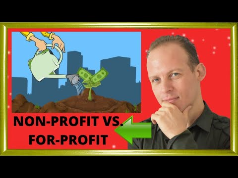 What is the difference between a nonprofit organization and a for profit business