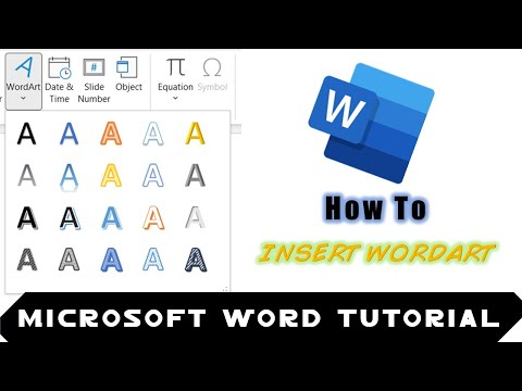 How to Insert WordArt using Drawing Tools in Microsoft Word 2016 Tutorial | The Teacher