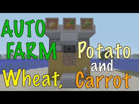 Minecraft Automatic Wheat, Potato, Carrot Farm - XBOX / PS / PC - [Ultra Effecient]