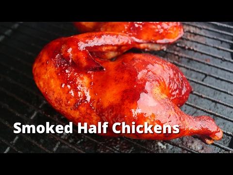 Smoked Half Chicken | Recipe for BBQ Chicken Halves on the Big Green Egg