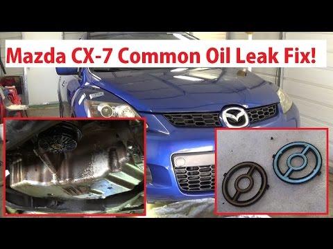 Mazda CX-7 Common Oil Leak Fix !  Oil Filter Housing Cooler Replacement Mazda CX7 Mazda 5 Speed