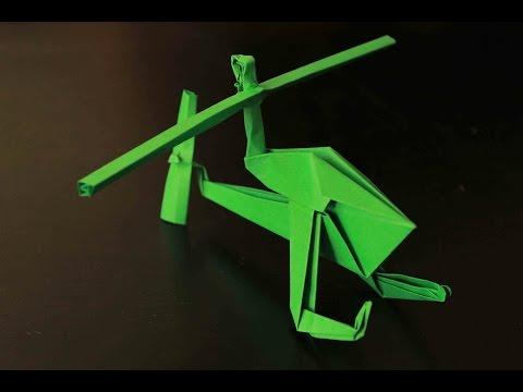 Como hacer un helicóptero de Papel que Vuela Mucho  | Origami helicóptero