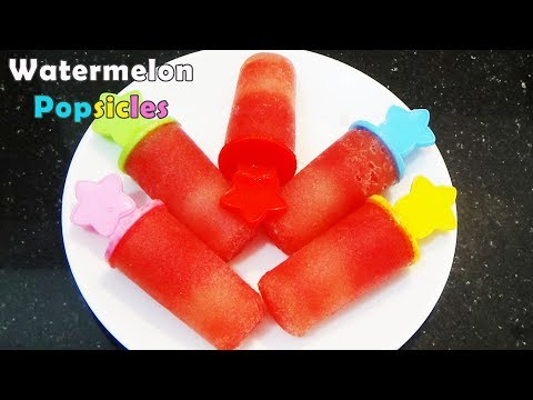 Watermelon Popsicles | Watermelon Ice Cream Recipe | Ice Popsicles | By CookwithND
