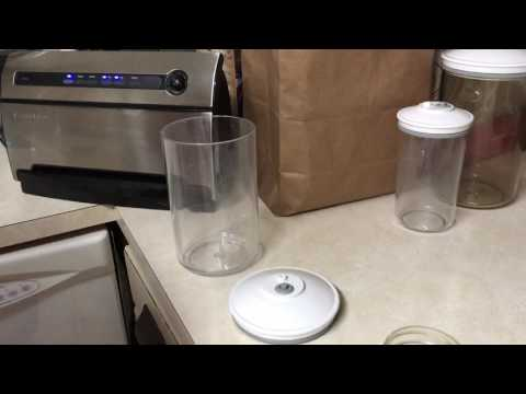 Vacuum seal jars without a jar accessory.