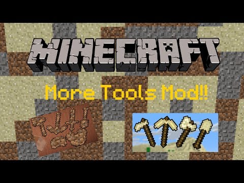 Minecraft 1.11.2 : More Tools Mod! | Nooby Tools Mod Review!!