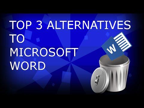 TOP 3 ALTERNATIVES TO MICROSOFT WORD