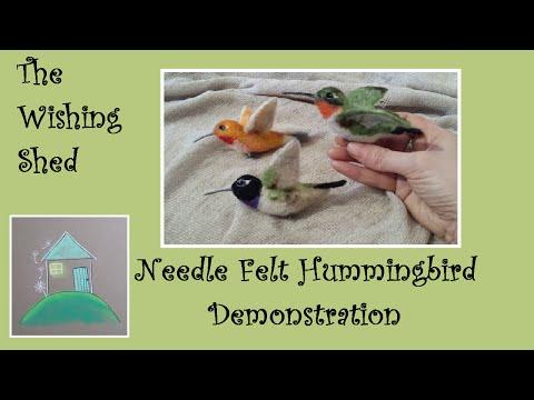 Needle felt tutorial  Hummingbird - The Wishing Shed