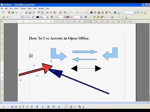 Open Office How To Create and Use Arrows (Simple)