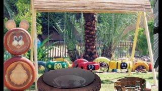 #x202b;اعادة تدوير الاطارات المستعملة و استخدامها بديكورات الحدائق و الاثاث المنزلى و افكار متعددة#x202c;lrm;