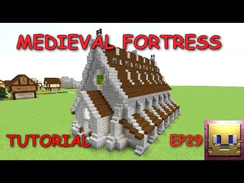 MINECRAFT - Medieval Fortress Tutorial EP29 Cathedral