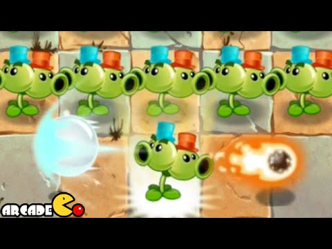 Plants Vs Zombies 2 Kung World: Far Future New Costume Split Pea (China IOS Version)