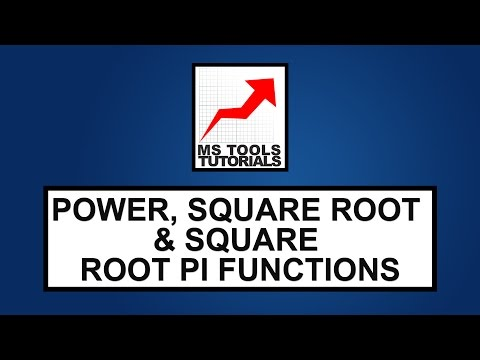 Excel Tutorial - How To Use Power, Square Root & Square Root Pi Functions | MS Tools Tutorials